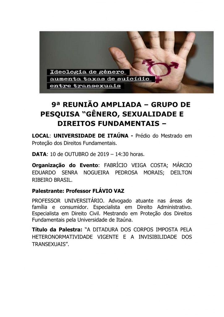 9 REUNIO AMPLIADA DO GRUPO DE PESQUISA