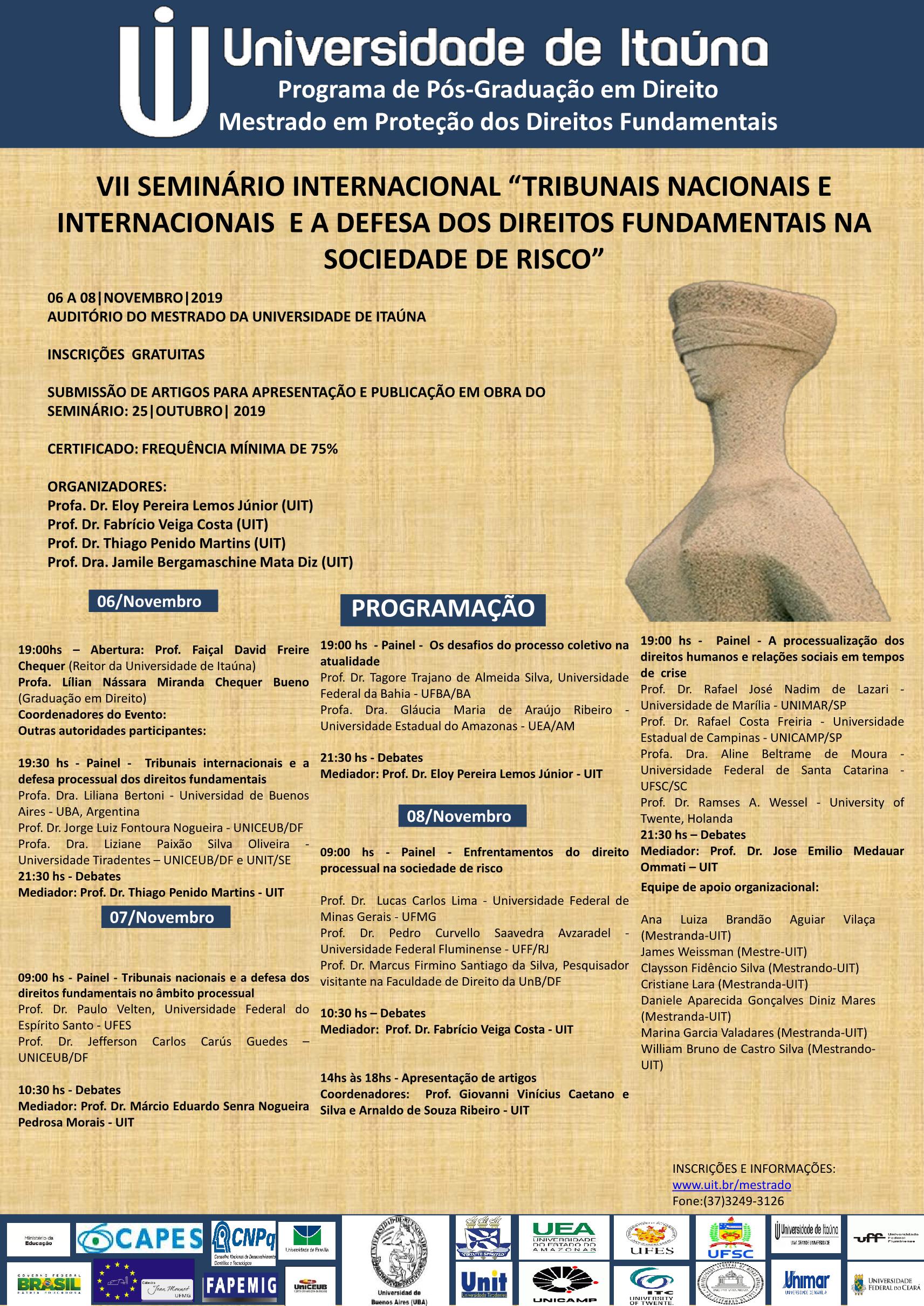 CARTAZ VII seminario 22 10 2019